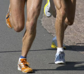 Runners' legs in a race