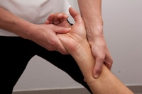 Soft tissue massage for sports injury
