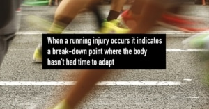 Fast running on road surface may cause injury breakdown