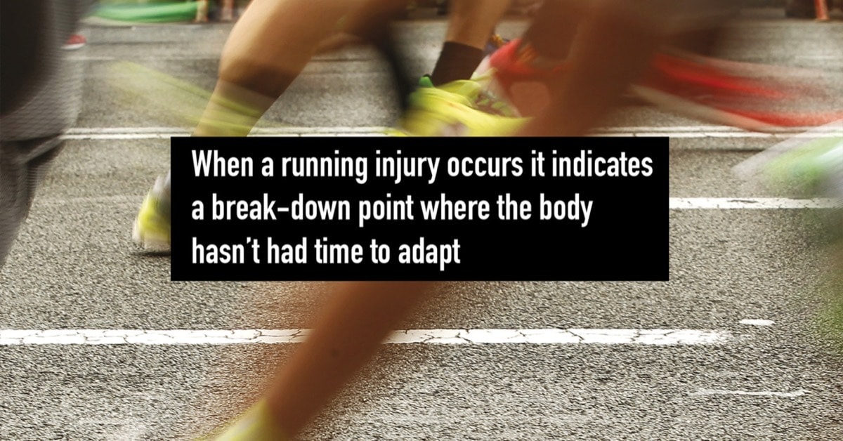 Injury breakdown point ……. the curse of the runner!