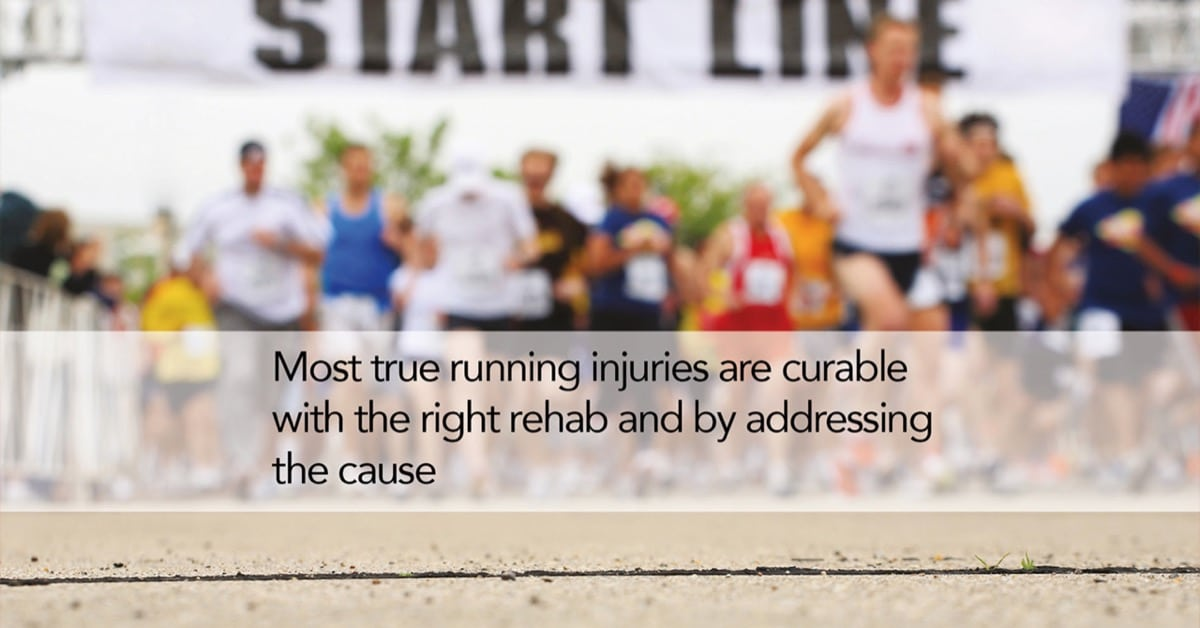 Most running injuries are curable by simple techniques.